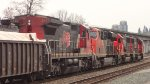CN mixed freight consist S/B through the CN/NBSF New Westminster Yard