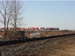 CP 7014 (SD 70 ACU), Heritage unit in the lead, E/B Mud Bay West