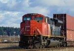 CN 8017, Trailing DPU for an E/B unit stack train through Mud Bay West.