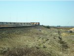 BNSF 6267 in the lead, empty coal train E/B just crossed Hwy 99 overpass