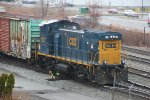 CSX 1233 shoving into the yard