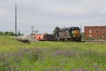 Spring wildflowers are in bloom as M791 pulls the interchange