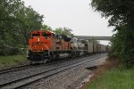 BNSF 9089 & 9674 hold the main at Gentry with coal loads