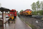 GBVKC passes the display equipment by the depot as the rain continues