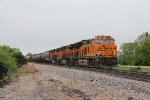 BNSF 3871 waits to continue west with H-GALMEM1