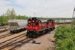 Two Burlington Junction units sit for the weekend