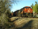 CN 2913/2819 leading a loaded petroleum train
