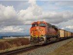 BNSF trailing DPU, empty coal train E/B