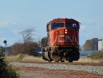 "CN 5768, W/B light power ""hammer-heading"" to Robert's Bank just west of the 88th Street crossing"
