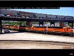 Two BNSF Standard Cabs Pass Kansas City