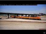 Twin BNSF Standard Cabs at Kansas City