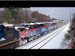 Metra F59PH #96 in the Snow!
