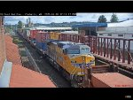 Union Pacific GE AC44CW #7107 Passes Chehalis
