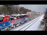 Metra F59PH #95 in the Snow!