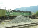BNSF 3009/2092 S/B waiting for border clearance, Washington state (Lynden) with BC