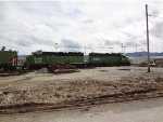 BNSF 3009/2092 S/B just waiting for entry clearance into Washington state at the BC/WA border just several yards south