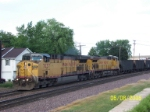 UP 7037 heads'm west.
