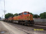 BNSF 4645 leads pig/stack train west