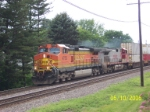 BNSF 4755 leads eastbound stacks