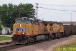 Westbound empty coal lead by UP 6080