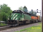 BNSF 7856 leads eastbound