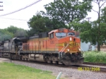 BNSF 5263 west with NS visitor