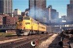 w/b Commuter train led by CMSTP&P F9A #93C