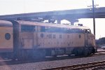 "CMSTP&P FP7 #103A, leading w/b ""Canon Ball"" commuter train"