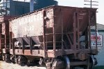 Ore car #76227 used for sand on siding