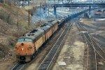 w/b CMSTP&P steel coil train led by F7A #89C