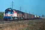 e/b CMSTP&P train led by SD40-2s #156 + #199