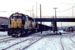 e/b C&NW train led by SD45 #945