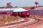 e/b GB&W train led by C424 #312 + RS-27 #317