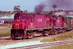 C424 #312 + RS-27 #317 leading e/b GB&W train