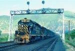 w/b D&RGW train led by GP40-2 #3100