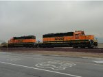 Ex Santa Fe Snoot Nose SD40-2s and Rt 66