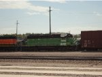 Ex BN SD40-2 BNSF 1996 Working Barstow Yard