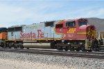 An Ex Santa Fe SD75M Returns to the Mojave Desert
