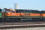 The only BNSF H1 SD60M in Commerce