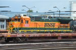 Rare BNSF B40-8 563 Resting in Commerce