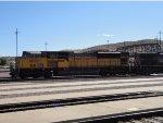 UP 8009 Leading a Coal Train Thru Barstow