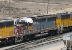 Ex SP GP40-2 with a White Cab Roof in Colton