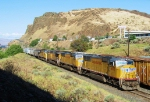 UP 4673 heading westbound along the Columbia River Gorge