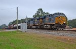 An all heavyweight consist lead by CSX 3181