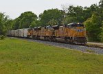 UP 8314 leads Q180 eastbound on CSX P&A Sub.