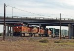 BNSF 7484 leads an eastbound