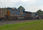 CSX 927 and 896 as mid train helpers on a 319 coal car train
