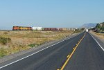 BNSF 7627, UP 8777 and BNSF 4496 lead a southbound into Klamath Falls