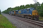CSX 5307 awaits the growing herd of hungry aggregate hoppers, parked on the west end of Conrad Yelvington siding