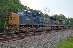 CSX 4541 also awaits the growing herd of hungry aggregate hoppers, parked on the west end of Conrad Yelvington siding